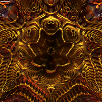 Autumnnal Gold, Metal Flower Series by crypticfragments