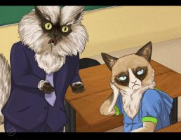Colonel Meow and Grumpy Cat by Do-El