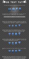 how to make 3D text by Tech-GFX