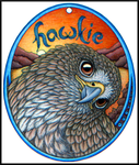 Hawkie Egg Badge by swandog