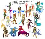 SMITE - Chibi Goddesses by Zennore