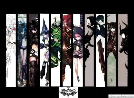 Black Rock Shooter Group by Ninja-Dee
