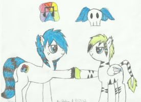 Skully and Rainbow by itachifan9