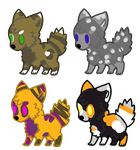 Chibi Dogez //ADOPTS////OPEN// by SNlCKERS