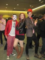 Amy pond and the doctor with clown by JMCosplay
