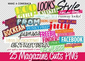25 Magazine Cuts PNG by MyShinyBoy