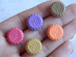 BottleCaps Candy Studs-Polymer Clay-Cabochons by ThePetiteShop