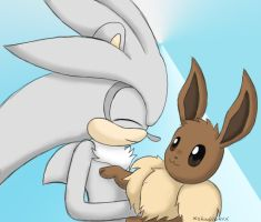 Silver and Eevee by xShadilverx