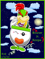 Bowser Jr. takes flight by Bowser2Queen