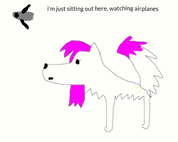Watching Airplanes by beyourselfanddraw