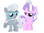 Pixel Silver Spoon and Diamond Tiara by queot