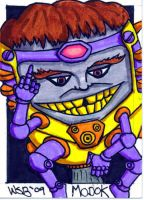 M.O.D.O.K. Sketch Card by whipsmartbanky