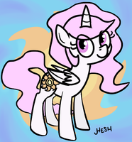 Young Celestia by HereticHesh