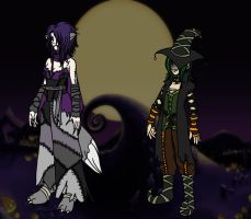 KH Duo - Halloween Town by shuu-bunni