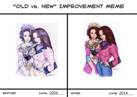 Old Vs  New Improvement Meme (Weathermay Twins) by Yaoi-Huntress-Earth