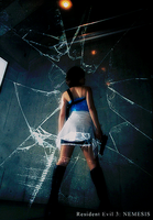The Glass Shatter - Jill Valentine by AiKawasaki