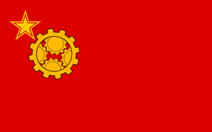 Steampunk Socialist Flag by Party9999999
