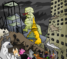 escape from the apocalyptic by CaptainDashund