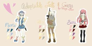 Adoptable: Loli and Guns by Usagi-Star
