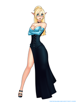 Commission - Gwen the elf by RoninDude