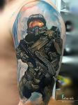 Halo tattoo by ellegottzi