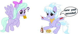 CloudChaser and Pancakes with Flitter by UmbraVivens