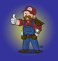 Mario Vault Boy by ShadowMaginis