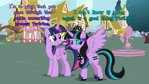 Equal Twilight and Equal Twivine by DashieMLPFiM
