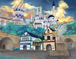 Canterlot Old Town by OwlVortex