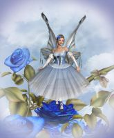 Blue Rose Fairy by CaperGirl42