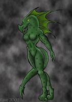 Lizard Girl by RaveWolf