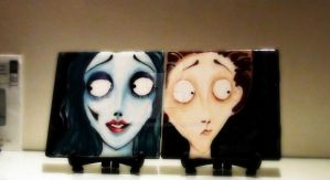 Corpse Bride on ceramics by keytaro