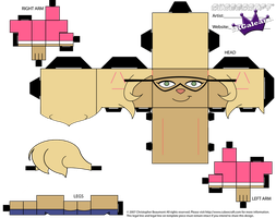 Cubeecraft of Callie Briggs from the Swat Kats PT1 by SKGaleana
