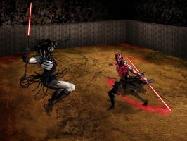 Darth Maul VS Darth Nihl by Gait44
