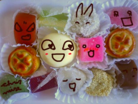 Expressive Japanese Sweets by invisigoth