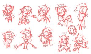 Sarah N. Dippity - Expressions (rough) by Atrox-C