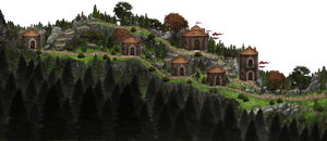 Mark of darkness map 2 - home town by AlMaNeGrA