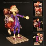 Happy Mask Salesman Papercraft by Drummyralf