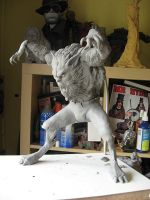 Wolfman WIP by Blairsculpture