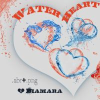 Water Heart Free ArtBrushSet by Diamara