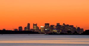 A view of Boston from across the harbor by kennedmh