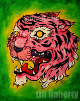 Wrath of the Pink Tiger by tifftoxic