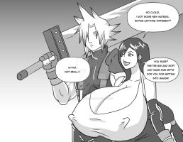 Cloud x tifa - inked by hocuspukeus