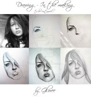 Drawing - in the making by Gloree