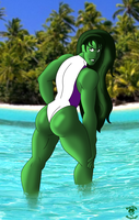 Sexy Beach She-Hulk by TheEdMinistrator765