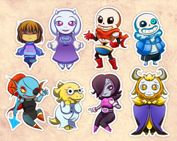 Undertale stickers by Spiccan