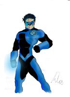Kyle Rayner for Blue Lantern by hiasi