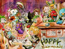 Animal Crossing Style - Happy Birthday Tony! by Rin-Uzuki