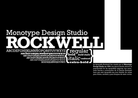 Rockwell Font Composition by ignari