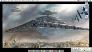 Star Destroyer Wall by spawzim